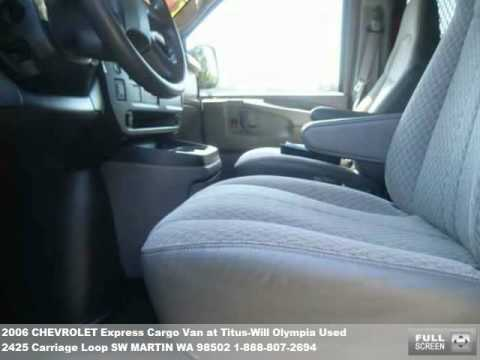 Titus Will Olympia >> 2006 CHEVROLET Express Cargo Van, $9990 at Titus-Will ...