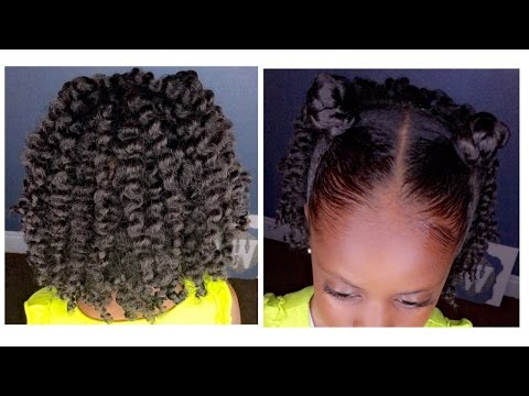 Two-Strand Twist Out w/Bantu Knots | Kids Natural Hairstyle | IAMAWOG thumbnail