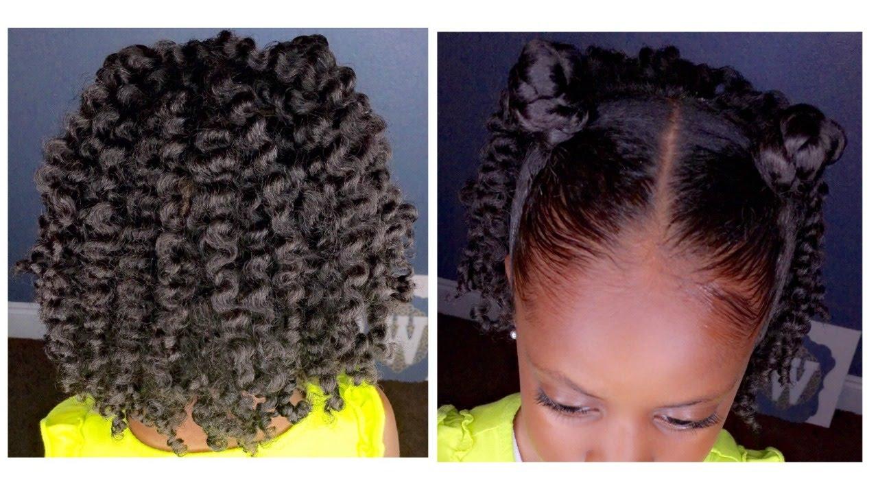 two-strand twist out w/bantu knots | kids natural hairstyle | iamawog