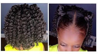 Two-Strand Twist Out w/Bantu Knots   Kids Natural Hairstyle   IAMAWOG(Hello Ladies! I'm all about simple. This video is nothing more than two bantu knots with a twist out. Here's a quick video showin you how I achieved this style on ..., 2016-03-20T02:03:36.000Z)