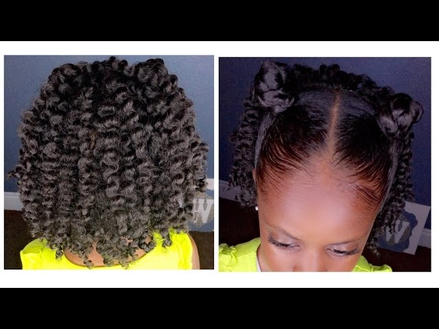 Two Strand Twist Out W Bantu Knots Kids Natural Hairstyle