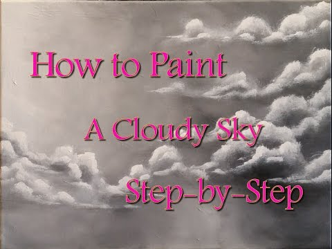How to Paint Clouds Step by Step Acrylic Painting on Canvas for Beginners