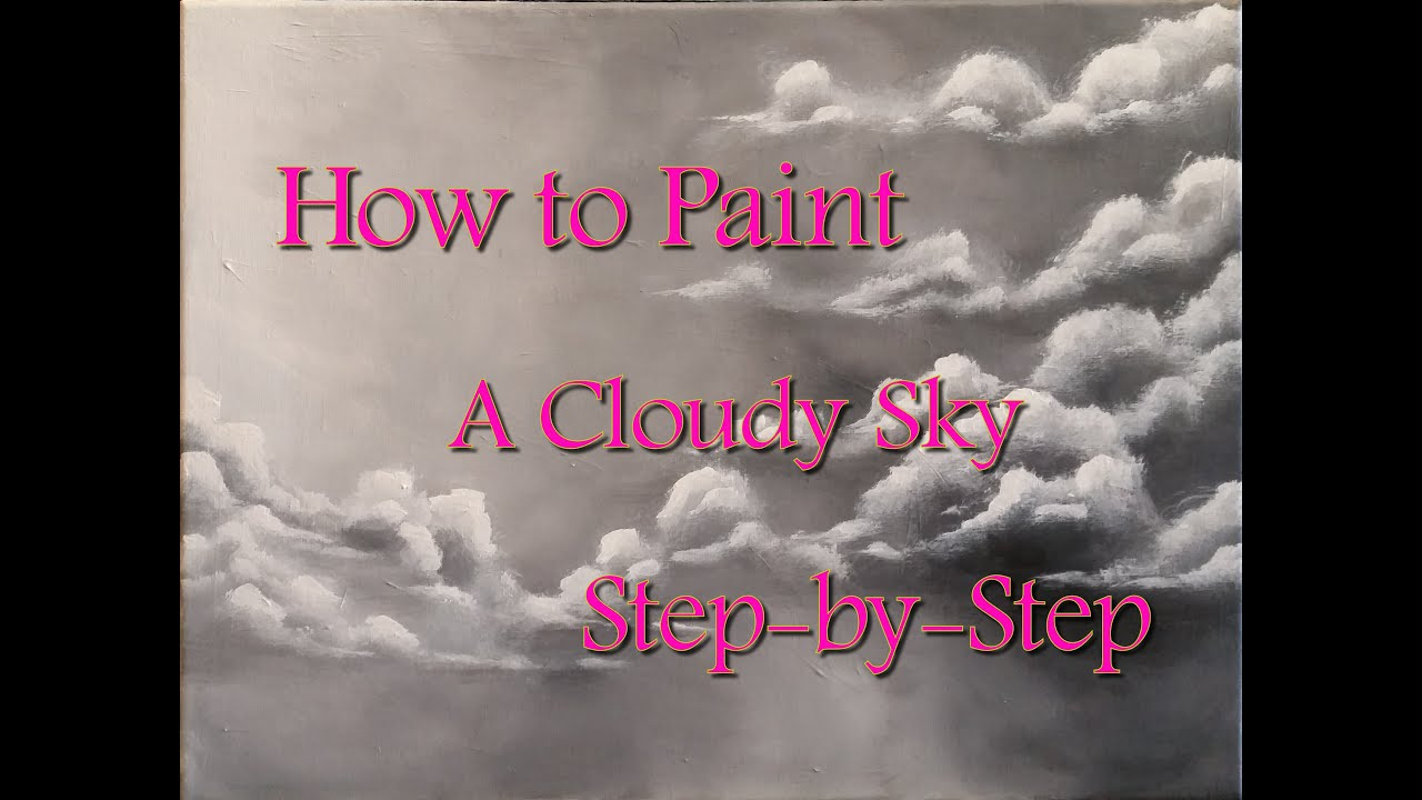 How to Paint Clouds Step by Step Acrylic Painting on Canvas for Beginners  YouTube