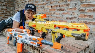 LTT Nerf War : Patrol Police SEAL X Warriors Nerf Guns Fight Criminal Group Dr Mundo Jungle Hunter