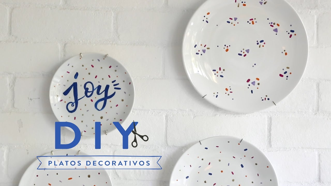 Platos decorativos para colgar en la pared diy westwing youtube - Platos decorativos pared ...