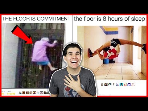Reacting To The Funniest Floor Is Lava Challenge Tweets!