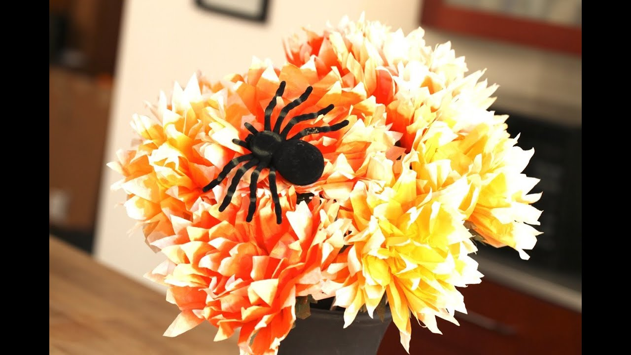 halloween paper flower arrangement youtube