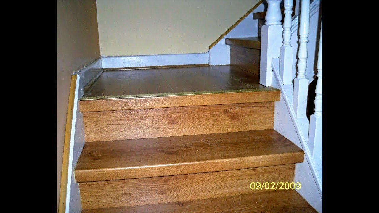 Installing Laminate Flooring On Stairsstair Renovation Idea Youtube
