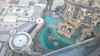 Dubai fountain show from the top of Burj Khalifa