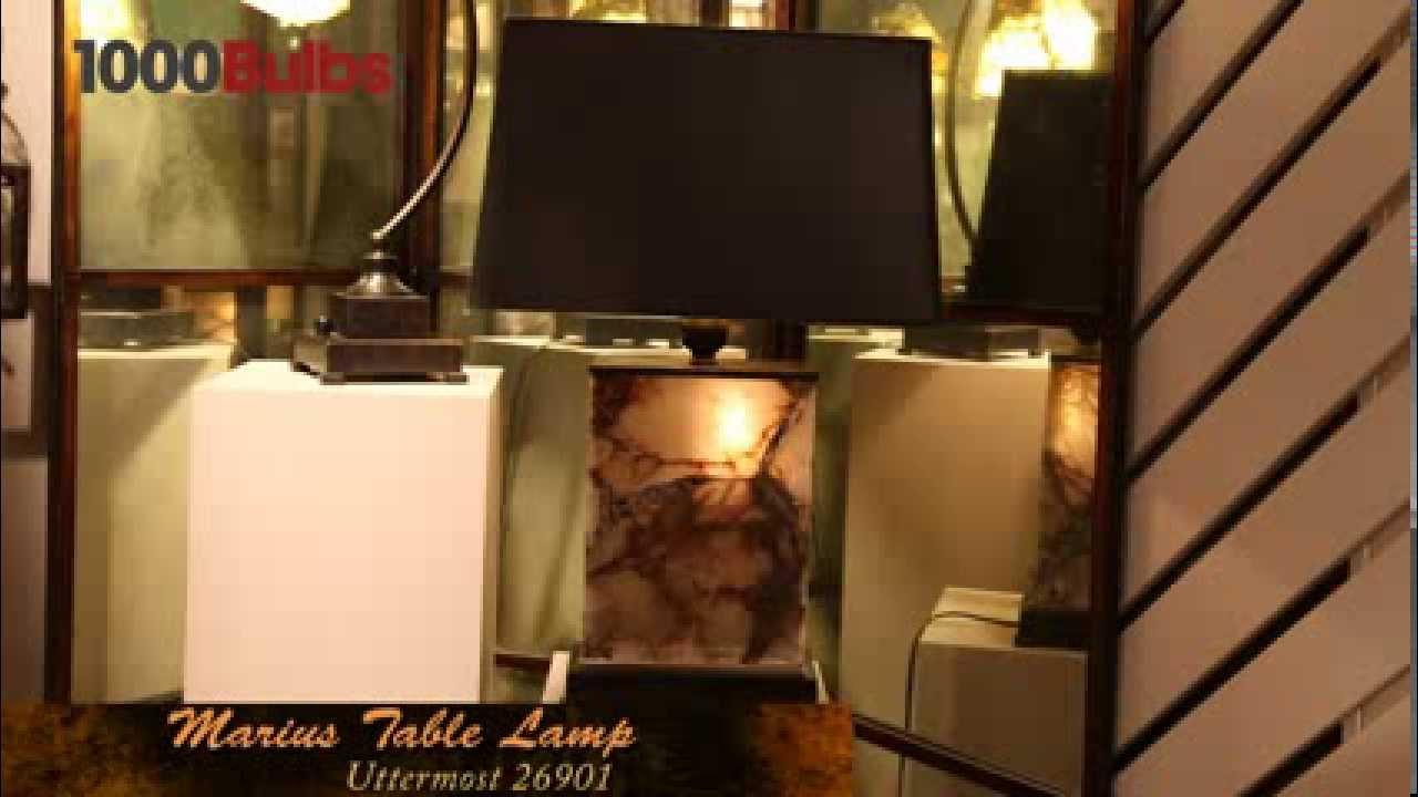 Uttermost Marius 26901 Modern Table Lamp Youtube