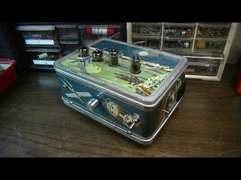 Lunchbox Guitar Amp From Old Tape Recorder Parts