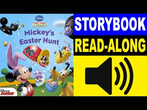 Mickey Mouse Clubhouse Read Along Story Book | Mickey's Easter Hunt | Read Aloud Story Books Kids