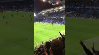 Manchester United away fans reaction at full time vs Chelsea