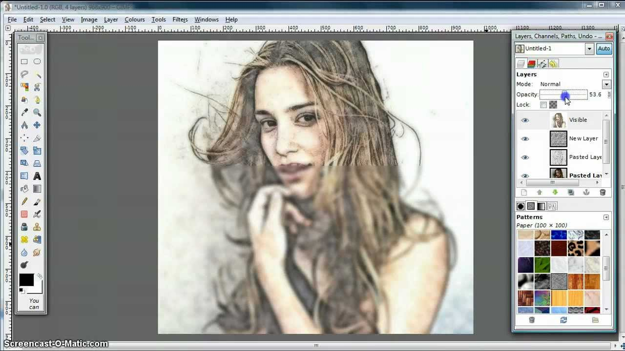 Line Drawing Editor : Gimp tutorial turn photo into soft colour pencil drawing