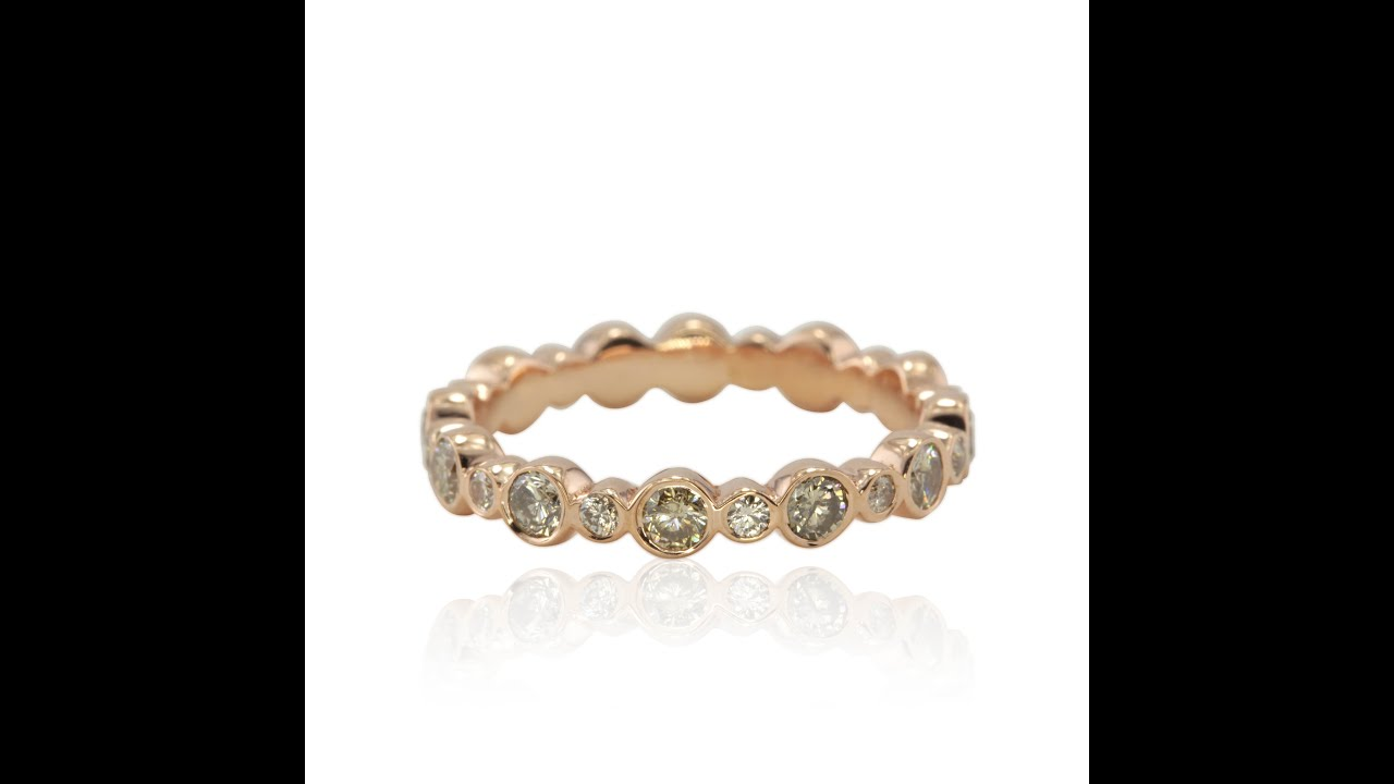 champagne set ring cushion stacking contemporary or unique gold modern bespoke cut a products with off engagement one diamond