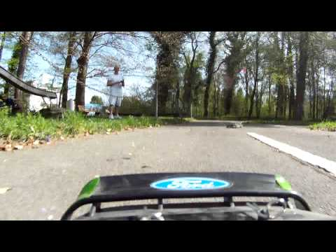 Traxxas Rally VXL Ken Block Edition With Onboard Cam On The Bike Park