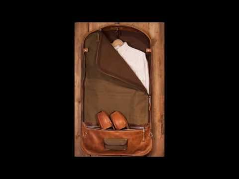 Elkton Expedition Garment Bag - Waxed Canvas and Leather by Buffalo Jackson Trading Co.