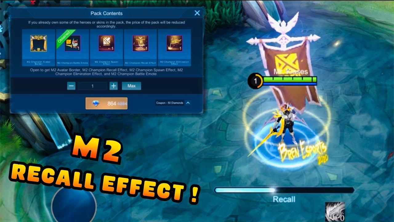 M2 Champion Recall Effect, Spawn, Elimination & Lancelot Bren Esport Epic Skin (499 Diamonds) - MLBB