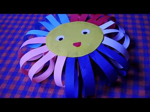 How to Make paper sun - DIY - Paper Craft
