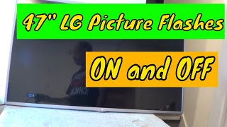 LG tv 47LB6100 picture flickering, disassembly for LED replacement