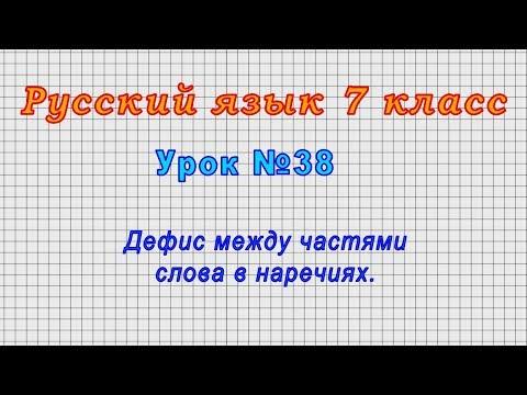 Русский язык 7 класс (Урок№38 - Дефис между частями слова в наречиях.)