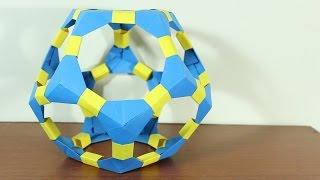 Origami Dodecahedron / Dodecaedro De Origami ¡TUTORIAL!