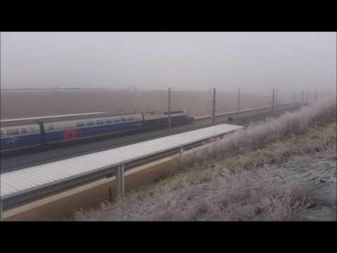 Voyage en TGV : Strasbourg-Lorraine TGV dans le Brouillard