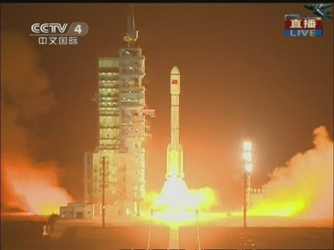 LIFT OFF: China launches space module rocket Tiangong 1