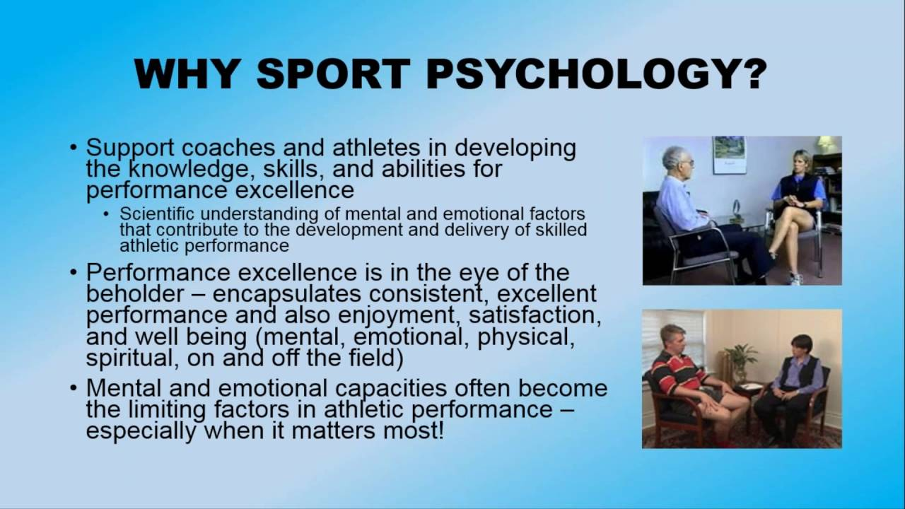 understanding sport psychology Sport psychologists can help you overcome problems, enhance your performance and achieve your goals sport psychologists helping professional and amateur athletes.