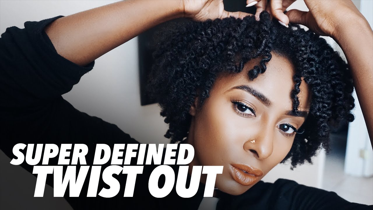 Super Defined Twist Out On Short Natural Hair Youtube