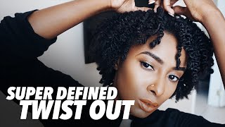 super defined twist out on short natural hair