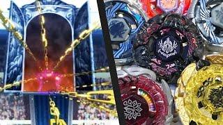 Beyblade Anime VS Real Life - WORLD CHAMPIONSHIPS! Team Star Breaker VS Team Excalibur