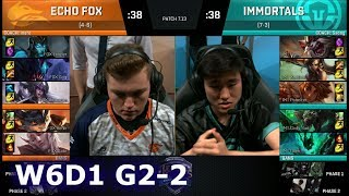 Immortals vs Echo Fox | Game 2 S7 NA LCS Summer 2017 Week 6 Day 1 | IMT vs FOX G2 W6D1