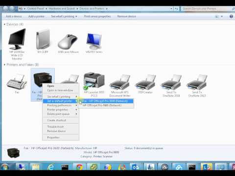 How to change default printer in Windows 7 8