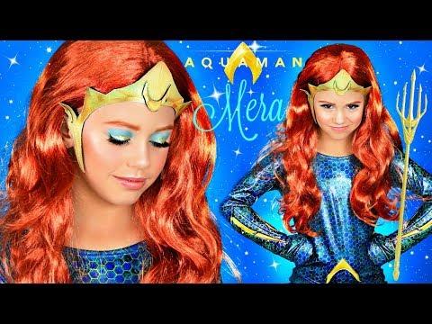 Aquaman MERA Halloween Makeup and Costume Tutorial