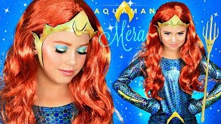 Aquaman MERA Halloween Makeup and Costume Tutorial