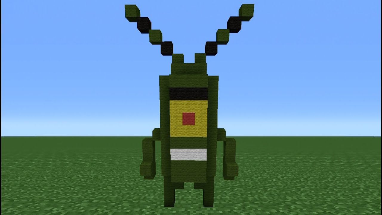 Minecraft Tutorial How To Make A Plankton Statue Youtube