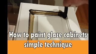 Kitchen cabinet glazing - edge glazing and antiquing cabinet doors
