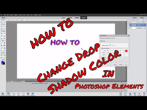 Change Color Of Text Shadow In Photoshop Elements 2018
