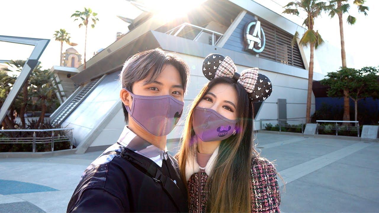 100 Months Together! Avengers Campus & Disneyland Couple Vlog | Ellen and Brian