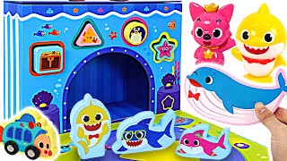 Baby shark Wooden toy bag! Let's play block with Pororo!   PinkyPopTOY