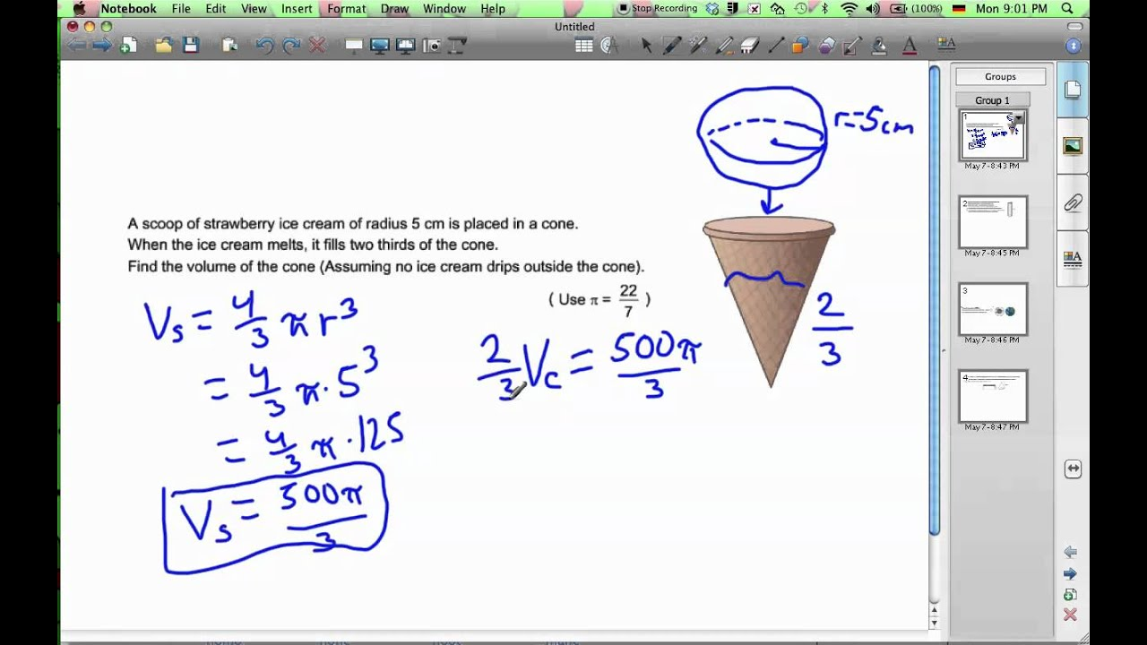 small resolution of Volume Of Cones (formula