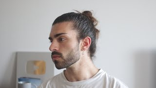 My FAVOURITE Hairstyle F๐r Men | How to do the Man Bun