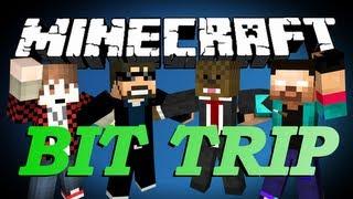 Repeat youtube video BRAND NEW Minecraft Bit Trip Parkour Minigame w/ BajanCanadian, SSundee, and NoahCraftFTW