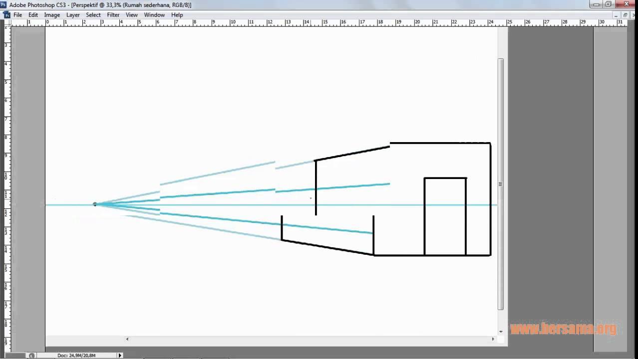 Belajar Mengenal Teknik perspektif Desain Exterior dan Interior Rumah di photoshop