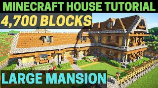 Minecraft: How to Build a HUGE Wooden Mansion Tutorial!