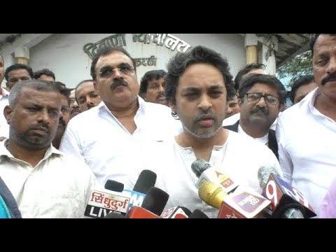 Nilesh Rane on Deepak Kesarkar   पोलिसांवर गृहराज्यमंत्री