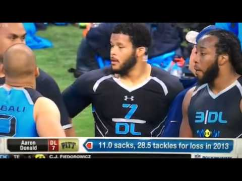 Aaron Donald at the Combine - Mike Mayock