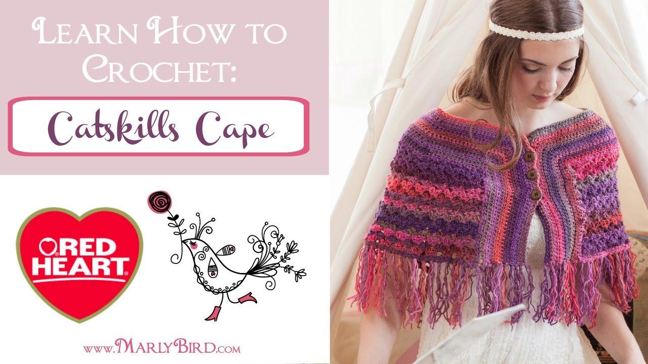 How to Crochet Catskills Cape - YouTube