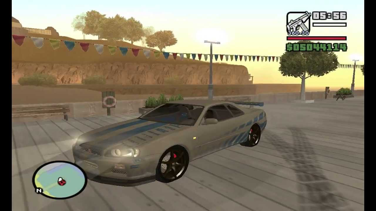 GTA San Andreas Car Mod 2 Fast Furious Nissan Skyline Sound Link Download